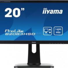Monitor TN iiyama 19.5inch ProLite B2083HSD-B1, VGA, DVI-D, 5ms, Boxe (Negru)