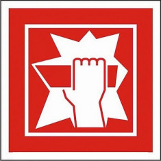 Indicator Sparge in caz de incendiu - Semn Protectia Muncii