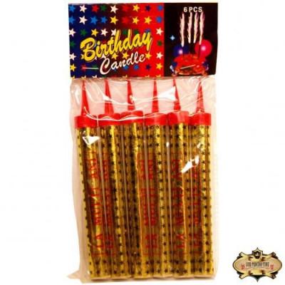 Set de 6 Artificii tort 30 cm foto