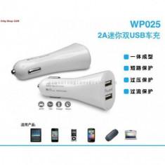 Adaptor auto Dual USB 2Port 3.1A Iprotect Alb Bulk