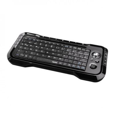 Tastatura wireless pentru smart TV Hama Uzzano, 15 taste media, Negru foto