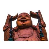 Statuetă Lacquered Wood Ho Tai Happy Buddha, L