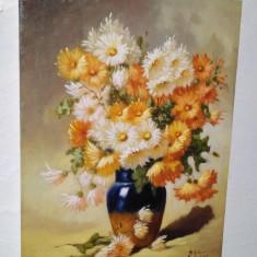 "Tablou, ""Tufanele"", ulei pe panza, pictura, tablouri la comanda, Flori, Realism"