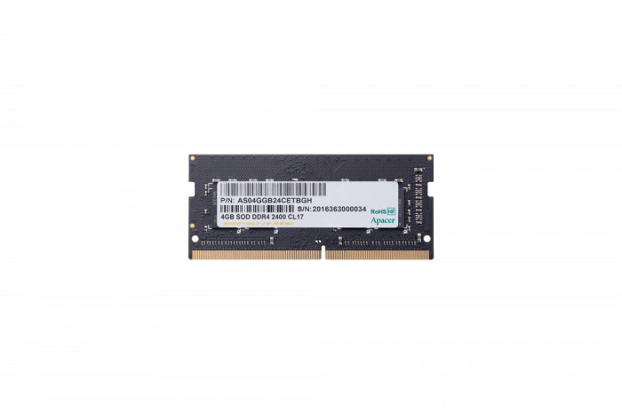 Memorie Apacer 4GB DDR4 2400MHz 1.2V CL17