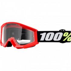 Ochelari copii ATV/cross 100% Strata Mini Grom Red, sticla clara Cod Produs: MX_NEW 26012468PE