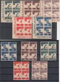 ROMANIA 1946  LP 199  O S P  DANTELAT  SI  NEDANTELAT BLOCURI  DE 4 TIMBRE MNH