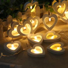Lumini fotografii, 1 metru, 10 leduri, model inimioare