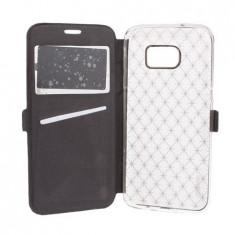 Husa stil carte pentru Samsung Galaxy S7 Edge, bumper, Negru, BBL200