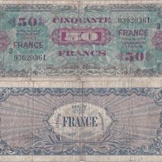 1944, 50 francs (P-122c) - Franța