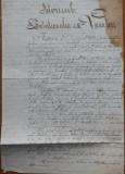 Istoricul Batalionului 4 Vanatori , manuscris de secol 19