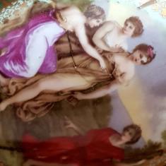 ROYAL VIENNA ALT WIEN -CEHOSLOVACIA PORTELAN PICTAT PERIOADA MEISSEN URNA VAZA
