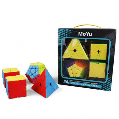 Set Cuburi Rubik 4 in 1 Moyu Mofang JiaoShi foto