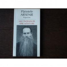 MICI INDEMNURI SPRE MINTUIRE - PARINTELE ARSENIE PAPACIOC