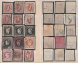 1865-1891 Clasor Romania timbre vechi stampilate, erori, varietati, 25% din cota, Romania pana la 1900