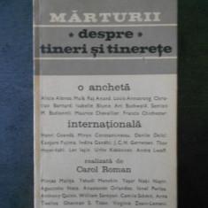 CAROL ROMN - MARTURII DESPRE TINERI SI TINERETE