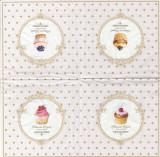 Pachet 20 de servetele - Dots & Cupcakes | Nuova R2S
