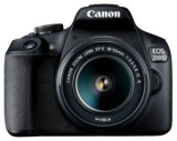 Aparat Foto D-SLR Canon EOS 2000D + EF-S 18-55mm IS II, 24.1 MP, Ecran 3inch LCD, Filmare Full HD (Negru)