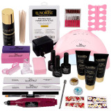 Kit PolyGel Happy Nails cu Lampa si Freza Unghii #08