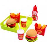Set joaca Meniu Hamburger cu cartofi prajiti si accesorii, Oem