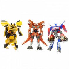 Set de 3 roboti Transfomers multicolor 22 cm