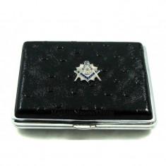 Tabachera inox cu simboluri masonice King Size