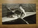 Carte postala de club, Aurel Vernescu, caiac canoe, campion mondial 1963 si 1966
