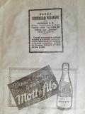 "Cumpara ieftin reclama vinuri fine, sampanie ""Mott & fils"", 1922,  16 x 23 cm"