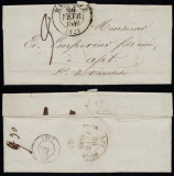 France 1840 Postal History Rare Stampless Cover + Content Marseille DB.246
