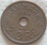 Moneda istorica 2 ORE - DANEMARCA, anul 1929   *cod 2703 = excelenta