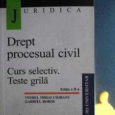 Drept procesual civil curs selectiv teste grila Mihai Ciobanu Gabriel Boroi