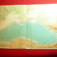 Harta ruseasca a Marii Negre 1956 si a zonelor adiacente dim.=35x21 cm