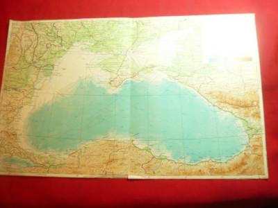 Harta ruseasca a Marii Negre 1956 si a zonelor adiacente dim.=35x21 cm foto