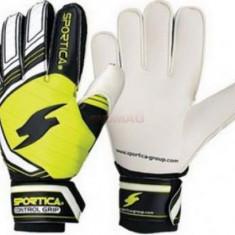 Manusi de portar Sportica Control Grip (Alb/Negru/Galben)