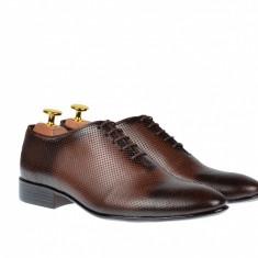 Pantofi barbati lux - eleganti din piele naturala matritata - Carlo 026M