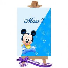 Numere masa pentru botez Mickey Mouse Handmade by Diana Puiu NMBM 2