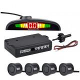 Set senzori parcare cu display LED, Negru