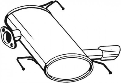 Toba esapament finala BMW Seria 3 (E90), 3 (E91) 1.6 2.0 intre 2004-2012 foto