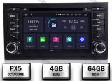 Navigatie Audi A4 (B6 B7) Android 9 Octacore PX5 4GB RAM + 64GB ROM cu DVD 7 Inch AD BGWAUDIA4P5