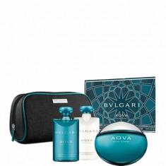 Set cadou Bvlgari Aqva (Apa de toaleta 100ml + Gel de dus 75ml+ After shave Balsam 75ml ), Pentru Barbati