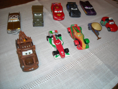 Disney Pixar Cars - Hasbro - 10 figurine masinute de metal - lot 4 foto