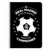Caiet diactando cu spirala Real Madrid, 60 file, 17 x 25 cm