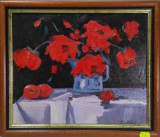 Natură statică, flori - Dorin George Barbu, membru UAP, Ulei, Impresionism