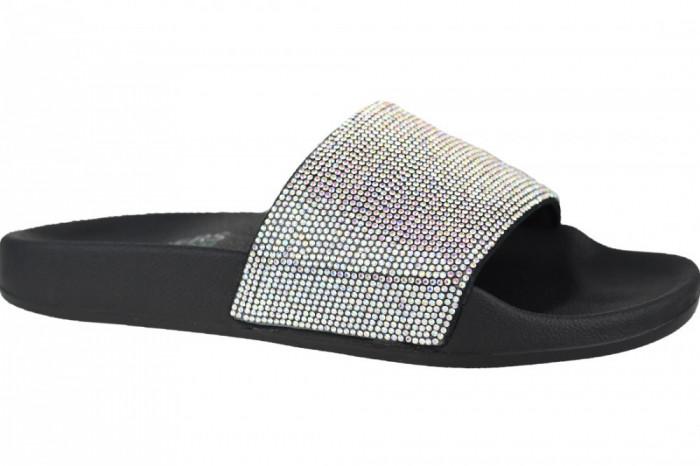 Papuci Skechers Pop Ups-Stone Age 32369-BLK pentru Femei