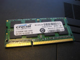 Cumpara ieftin Memorie ram laptop CRUCIAL 8 gb 1600 mhz DDR3 , functionala
