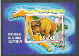 Eq. Guinea 1977 Bisons, perf. sheet, used M.007, Stampilat
