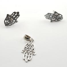 """Set bijuterii argint 925 """"Mana Fatimei"""" cercei si pandativ"""