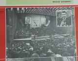 Afis vechi Nicolae Ceaușescu - PCR - Congresul X - propaganda comunista