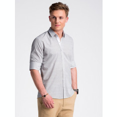 Camasa premium, casual, barbati - K469-alb-maro