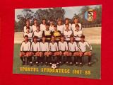 Foto fotbal - echipa SPORTUL Studentesc Bucuresti (sezonul 1987-1988)