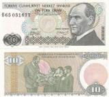 Turcia 10 Lire 1970 (78) UNC